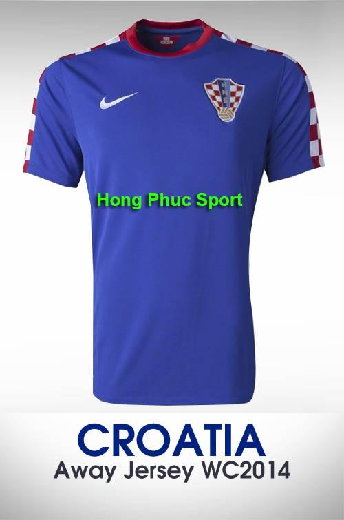 Áo bóng đá đội Croatia sân khách 2014