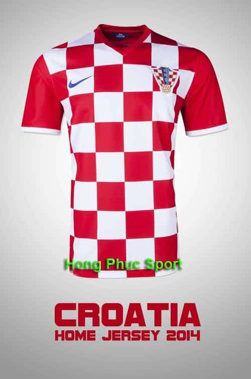 Áo tuyển Croatia WC2014 sân nhà