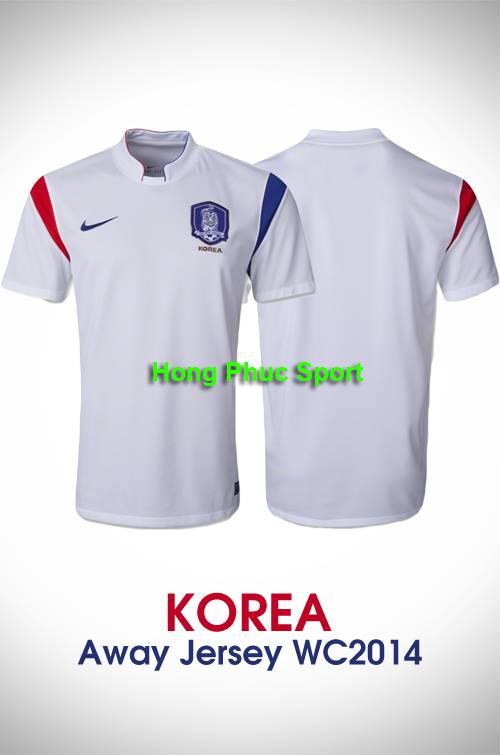 Áo tuyển Hàn Quốc WC2014 sân khách