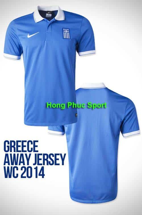 Bộ quần Áo tuyển Hy Lạp World Cup 2014 sân khách