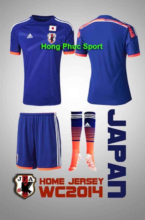 Bộ quần áo  tuyển nhật sân nhà world cup 2014