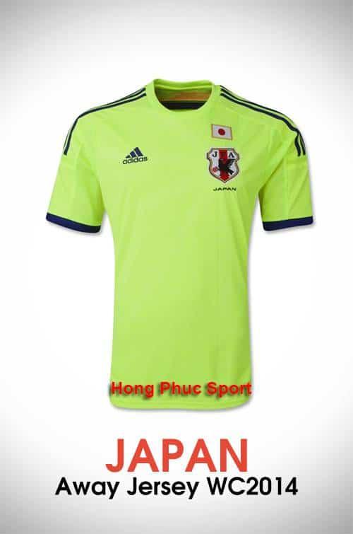 Mặt trước áo Tuyển Nhật sân khách world cup 2014