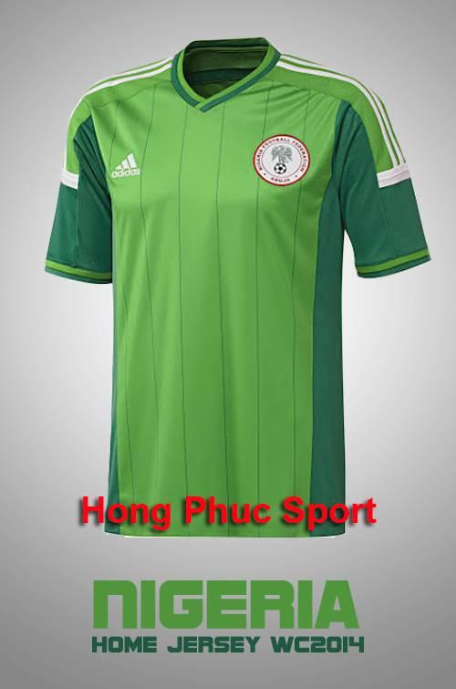 Áo tuyển Nigeria World Cup 2014 sân nhà
