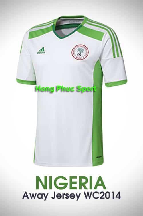Áo tuyển Nigeria World Cup 2014 sân khách