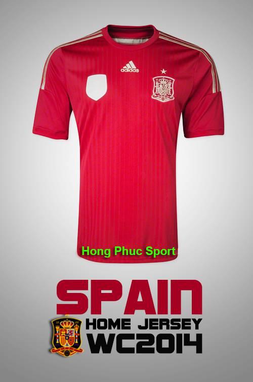 Mặt trước Áo tuyển Tây Ban Nha WC2014 sân nhà