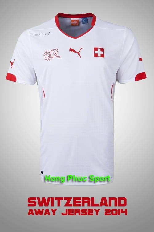 Áo tuyển Thụy Sỹ WC2014 sân khách