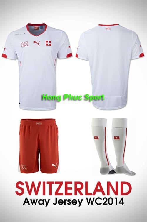 Bộ quần Áo tuyển Thụy Sỹ WC2014 sân khách