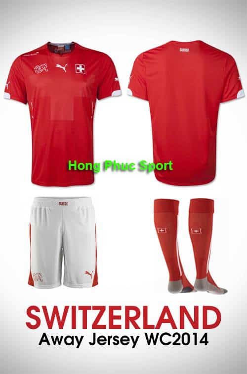 Bộ quần Áo tuyển Thụy Sỹ WC2014 sân nhà