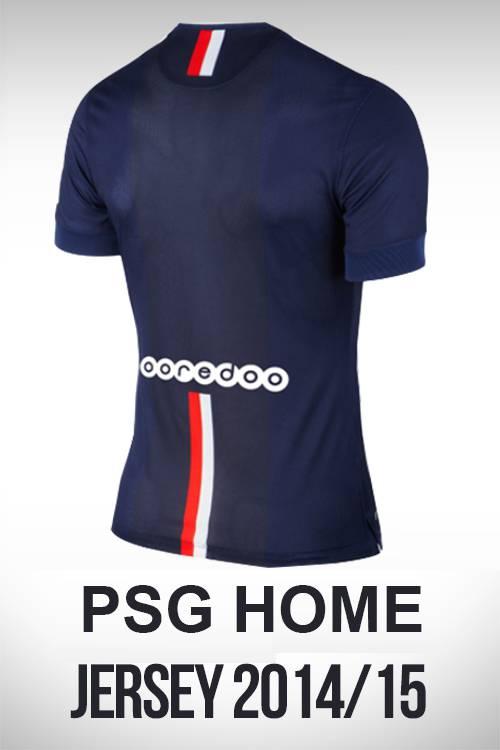 mặt sau áo PSG sân nhà 2014/15