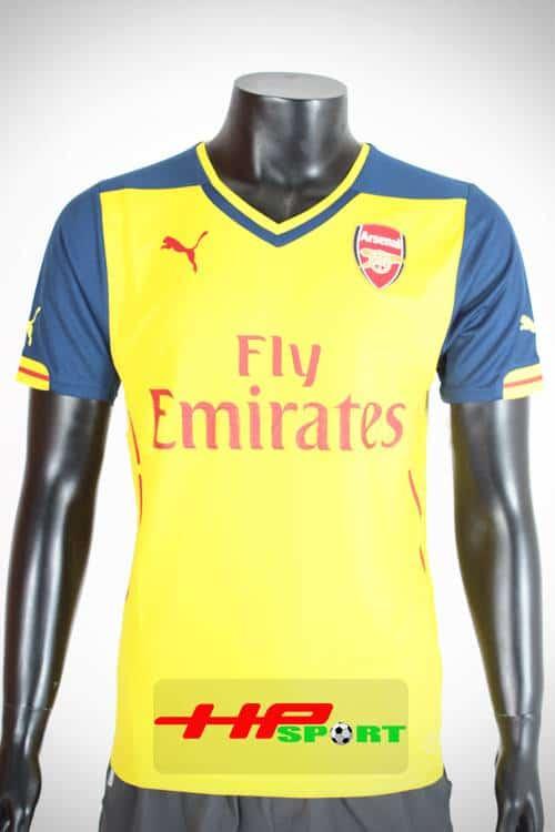 Bộ quần áo Arsenal vàng 2014-2015