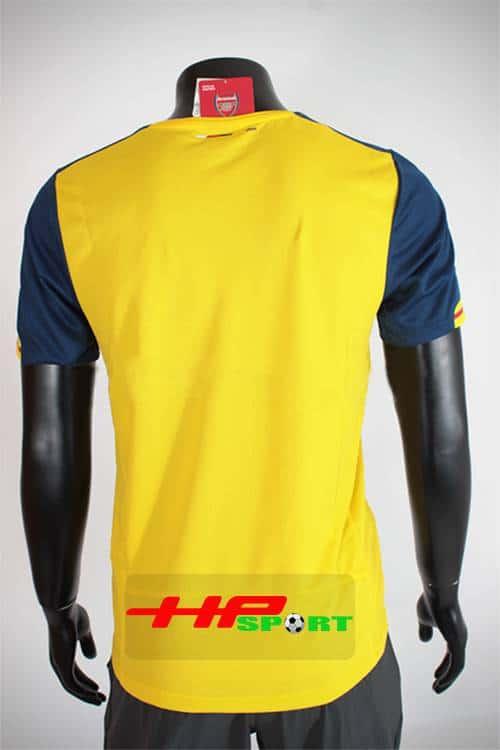 Mặt sau Bộ quần áo Arsenal vàng 2014-2015