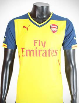 Bộ quần áo Arsenal vàng 2014-2015 sân khách