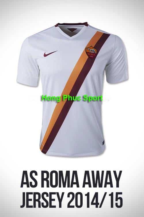 Mẫu áo bóng đá CLB AS ROMA sân khách mùa giải 2014 – 2015 rất đẹp