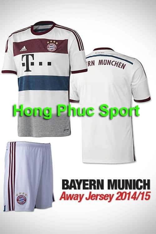 Bộ quần áo Bayern  Munich 2014-2015 sân khách