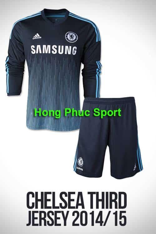 Áo Chelsea 2014-2015 mẫu thứ 3 tay dài