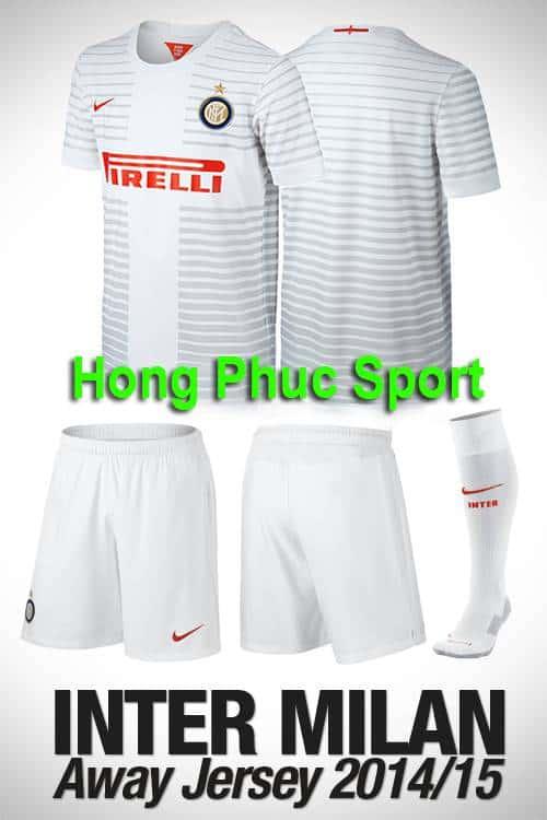 Bộ quần áo Inter Milan 2014-2015 sân khách
