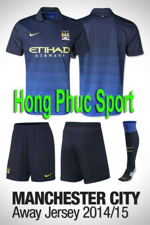 Bộ quần áo Manchester City 2014-2015 sân khách