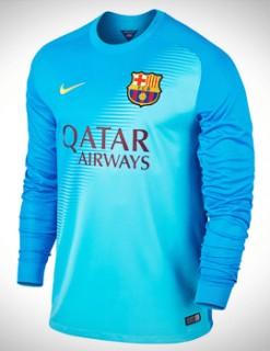 Áo thủ môn Barcelona 2014-2015 xanh