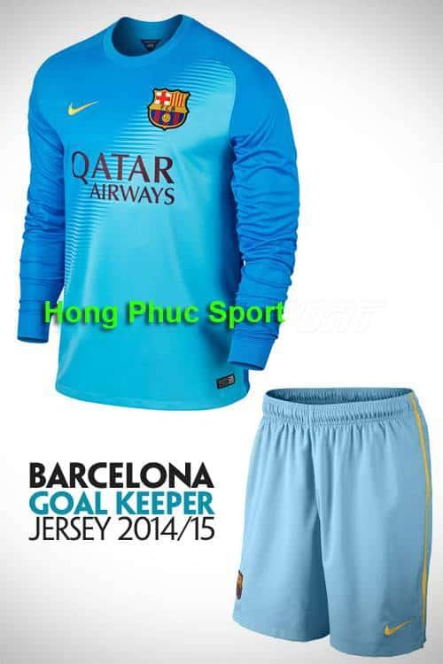 bộ quần áo thủ môn Barcelona 2014-2015 xanh