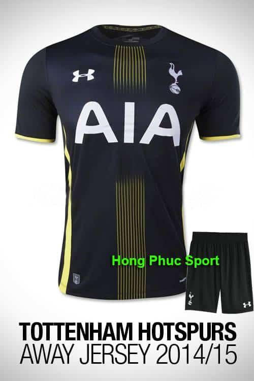 mẫu áo Tottenham mùa giải 2014- 2015 sân nhà
