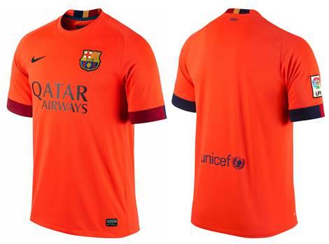 Áo Barcelona 2014-2015 sân khách