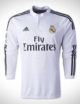 Áo real madrid tay dài 2014 2015 màu trắng