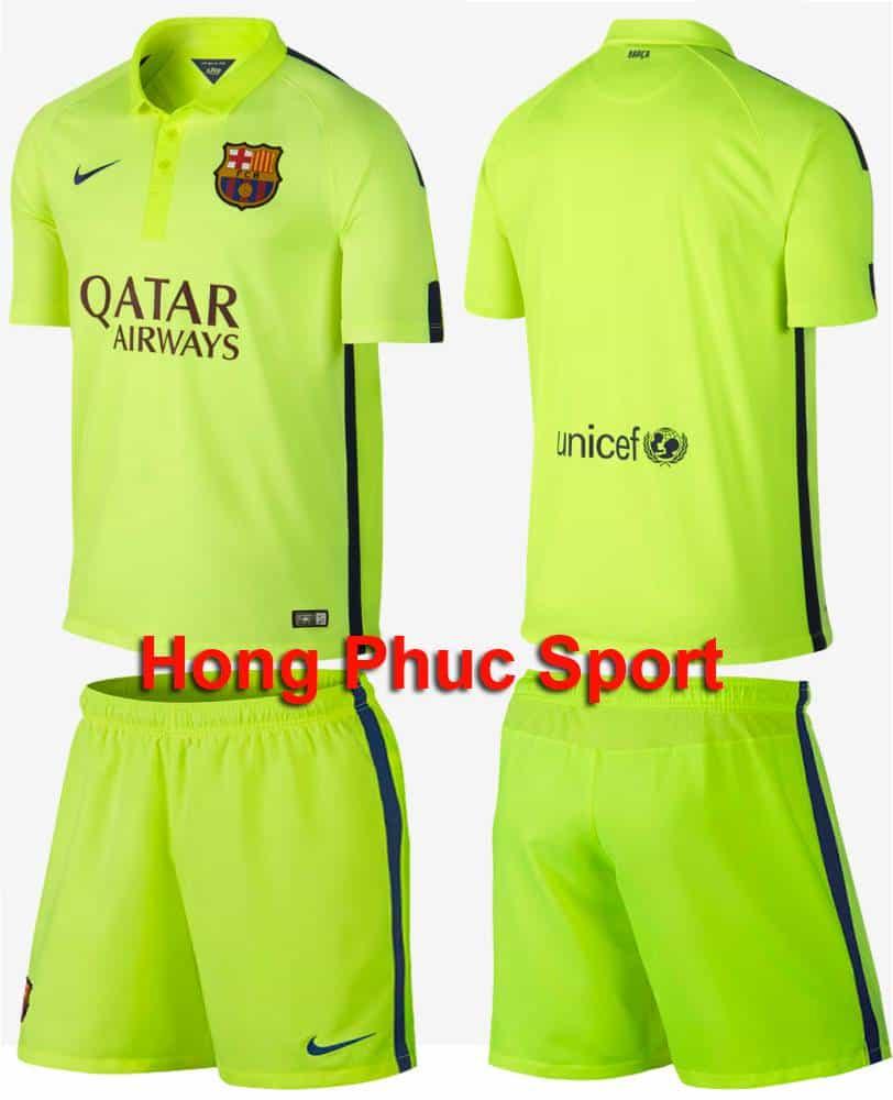 Bộ quần áo Barca sân khách mẫu thứ 3 mùa giải 2014/15