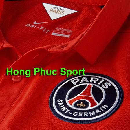Cổ áo, logo áo PSG 2014-2015 mẫu thứ 3