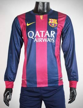 Áo Barcelona 2014-2015 sân nhà tay dài