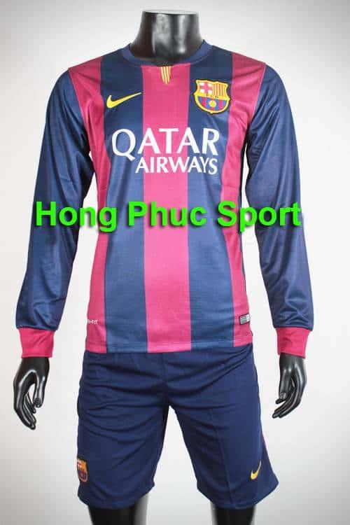 Bộ quần Áo Barcelona 2014-2015 sân nhà tay dài