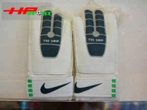 Găng tay thủ môn Nike T90 – Grip màu xanh mặt trước