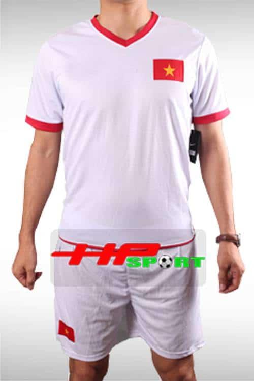 Bộ quần áo tuyển Việt Nam màu trắng sân khách AFF Cup 2014