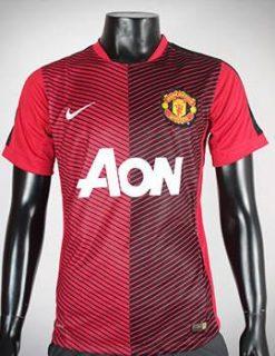áo Training MU Pre Match 2014-2015 màu đỏ đen