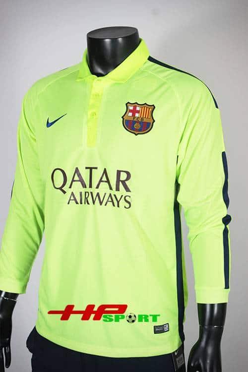 Bộ quần áo Barcelona 2014-2015 mẫu thứ 3 tay dài