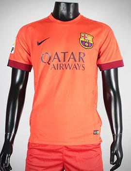 áo Barcelona màu cam 2014-2015 sân khác