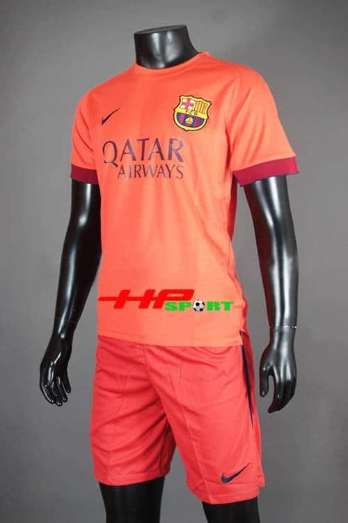 Bộ quần áo Barcelona màu cam 2014-2015 sân khác