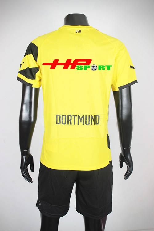 Mặt sau Bộ quần áo Dortmund 2014-2015 sân nhà