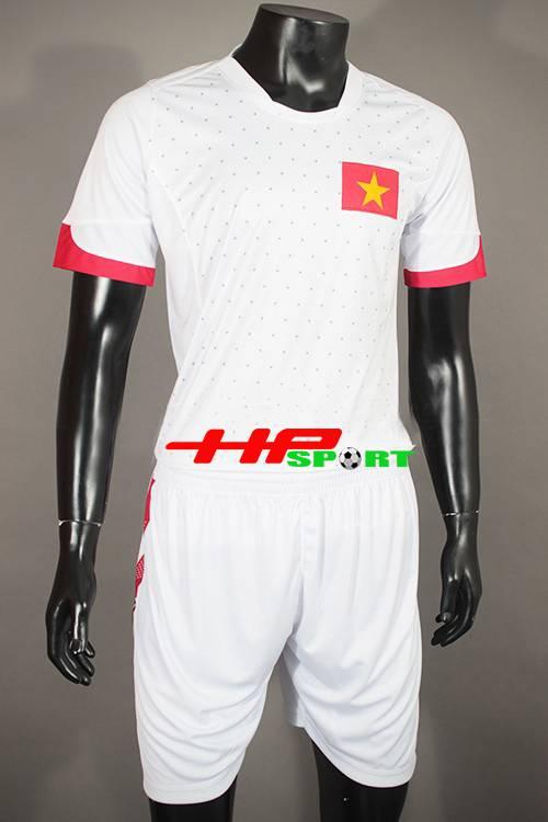 Áo đá banh tuyển Việt Nam 2015 sân khách màu trắng