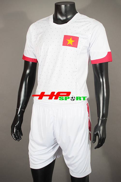 Bộ quần Áo đá banh tuyển Việt Nam 2015 sân khách màu trắng