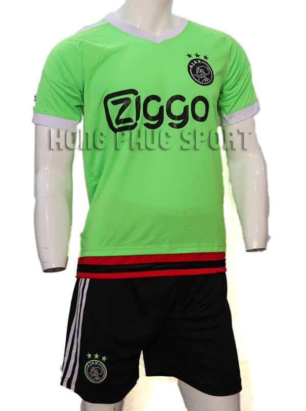 Mẫu áo Ajax Amsterdam xanh chuối 2015/16