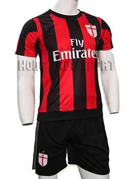 Đồ đá banh AC Milan 2015-2016 sân nhà màu sọc đỏ đen