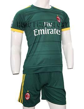 Mẫu áo AC Milan xanh rêu 2015-2016 sân khách mẫu thứ
