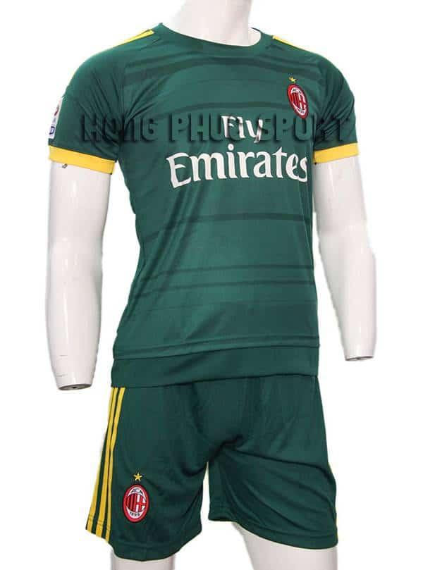 Bộ quần áo AC Milan xanh rêu 2015-2016 sân khách mẫu thứ 3