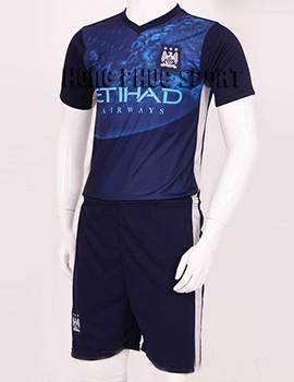 Đồ đá banh Training Man City 2015/16 màu xanh tím than
