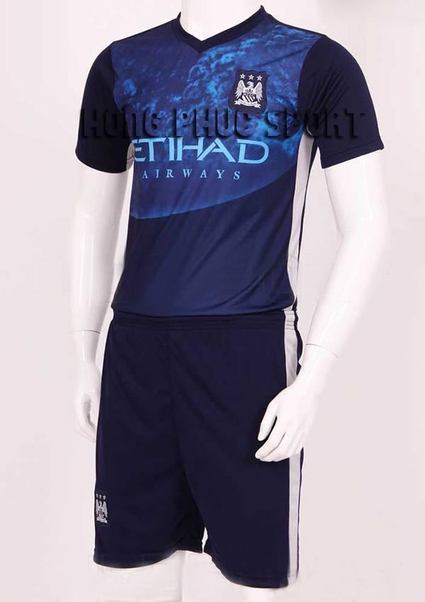 Mẫu áo đá banh Training Man City 2015/16 màu xanh tím than