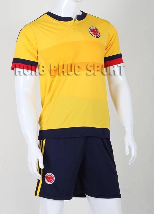 Quần áo đá banh Columbia 2015-2016 sân nhà màu vàng