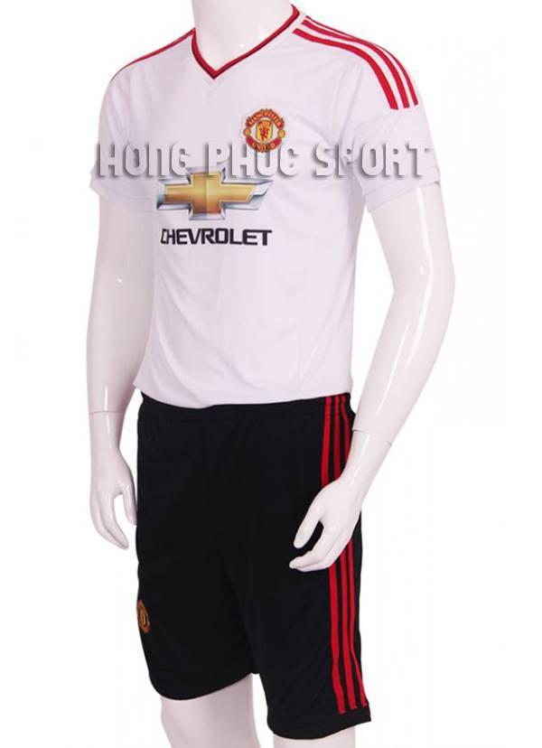Mẫu áo đá banh MU 2015-2016 sân khách màu trắng