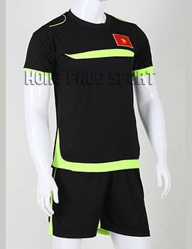 Đồ đá banh Training Việt Nam 2015-2016 màu đen viền xanh chuối