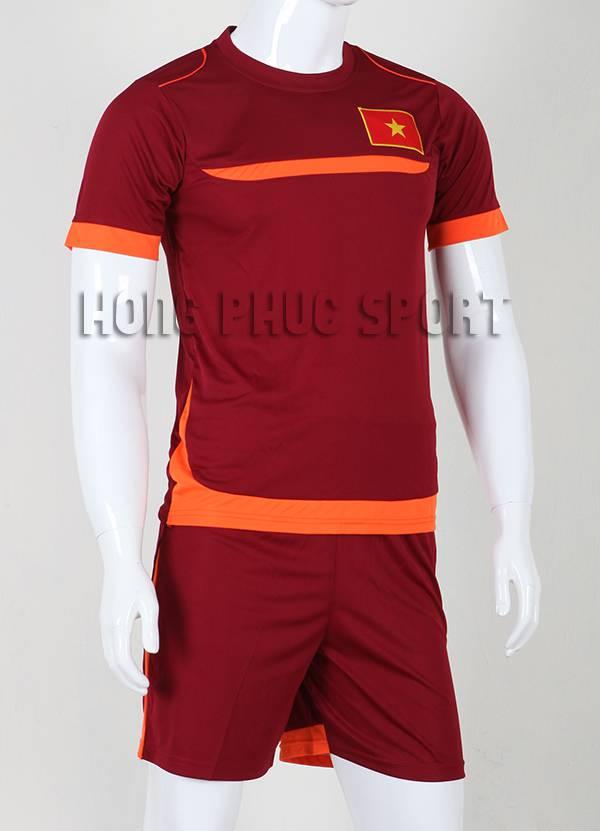 Quần áo đá banh Training Việt Nam 2015-2016 màu đỏ bã trầu