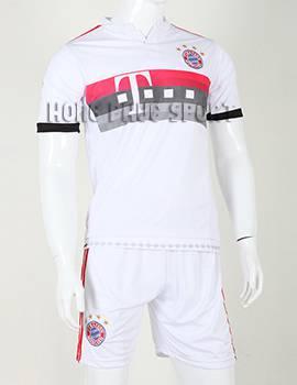 Bộ quần áo đá banh Bayern Munich 2015-2016 sân khách màu trắng phối đỏ
